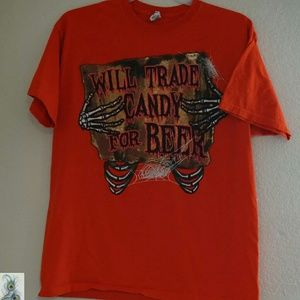 """""""Candy for Beer"""" Halloween Mens Shirt XL"""